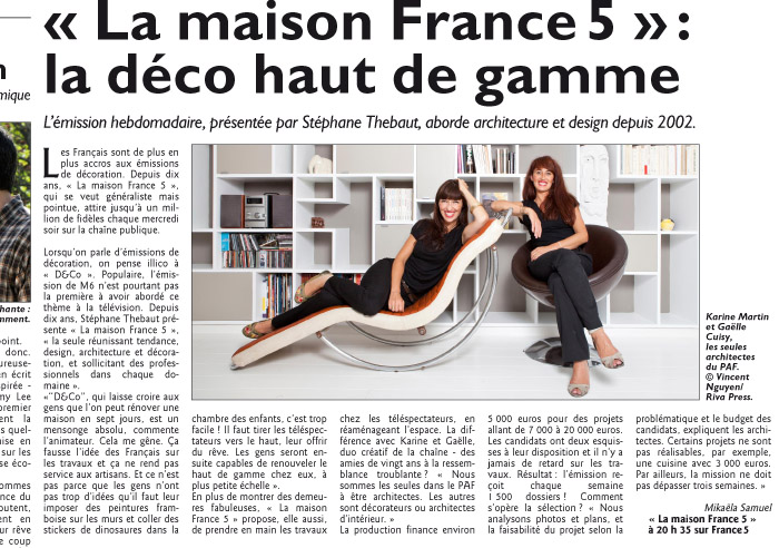 le figaro tv magazine gplusk. Black Bedroom Furniture Sets. Home Design Ideas