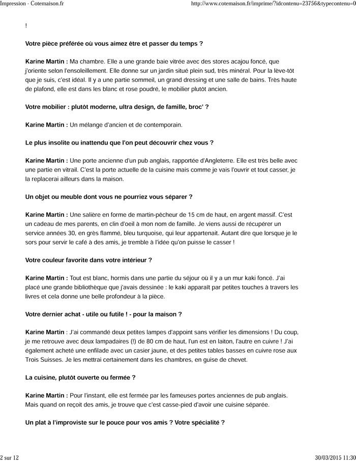 Karine Martin - Cotemaison.fr